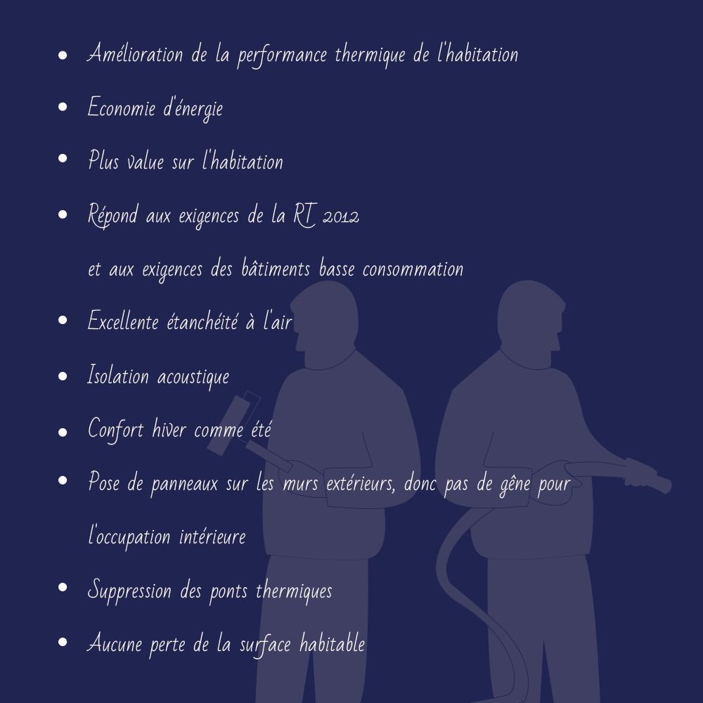 points - ISOLATION THERMIQUE EXTÉRIEURE